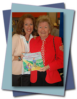 Sheila Aron, author of I'm Glad I'm Me, Weaving the Thread of Love from Generation to Generation with her mother Lena.
